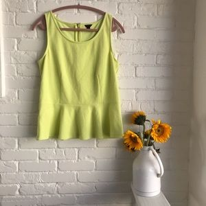 Ann Taylor neon stretchy summer tank top Large